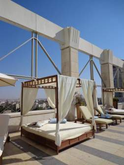 Roof terrace, Four Seasons, Amman